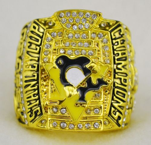 NHL Pittsburgh Penguins World Champions Gold Ring