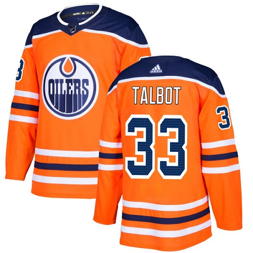 Adidas Oilers #33 Cam Talbot Orange Home Authentic Stitched NHL Jersey