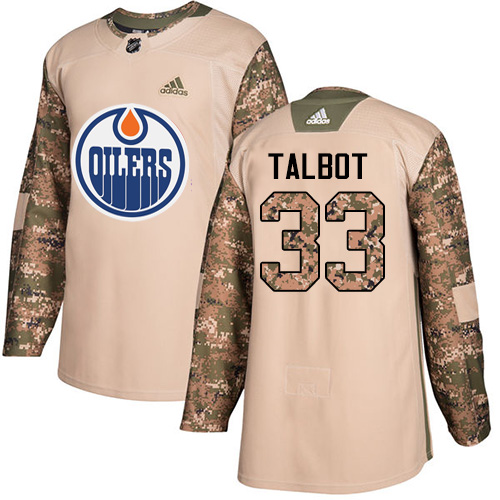 Adidas Oilers #33 Cam Talbot Camo Authentic Veterans Day Stitched NHL Jersey