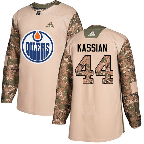 Adidas Oilers #44 Zack Kassian Camo Authentic Veterans Day Stitched NHL Jersey