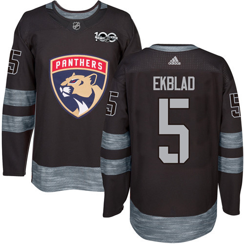 Adidas Panthers #5 Aaron Ekblad Black 1917-100th Anniversary Stitched NHL Jersey