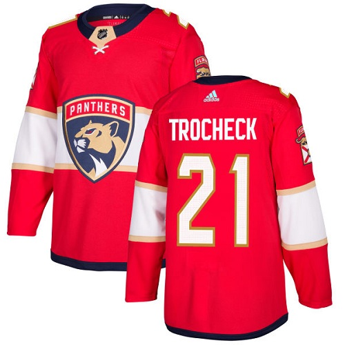 Adidas Panthers #21 Vincent Trocheck Red Home Authentic Stitched NHL Jersey
