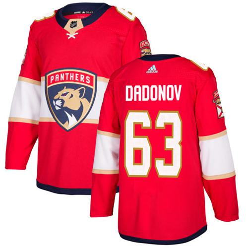 Adidas Panthers #63 Evgenii Dadonov Red Home Authentic Stitched NHL Jersey