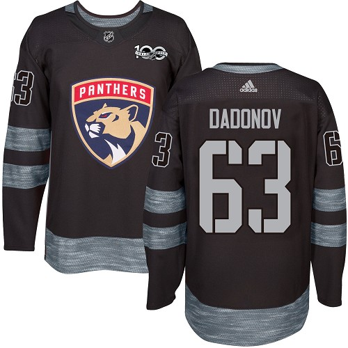 Adidas Panthers #63 Evgenii Dadonov Black 1917-100th Anniversary Stitched NHL Jersey