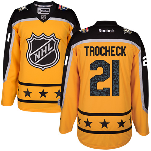 Panthers #21 Vincent Trocheck Yellow All-Star Atlantic Division Stitched NHL Jersey