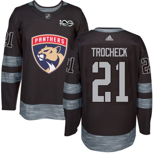Adidas Panthers #21 Vincent Trocheck Black 1917-100th Anniversary Stitched NHL Jersey