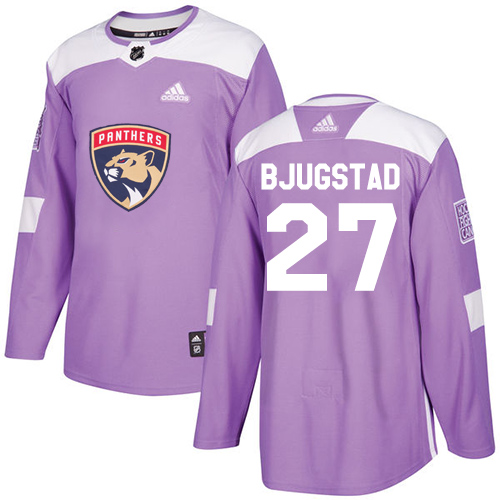 Adidas Panthers #27 Nick Bjugstad Purple Authentic Fights Cancer Stitched NHL Jersey