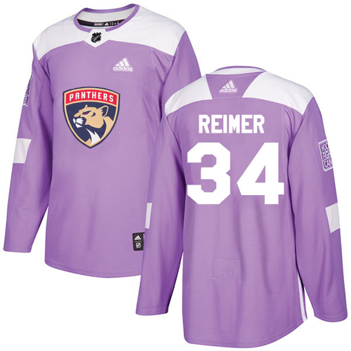 Adidas Panthers #34 James Reimer Purple Authentic Fights Cancer Stitched NHL Jersey
