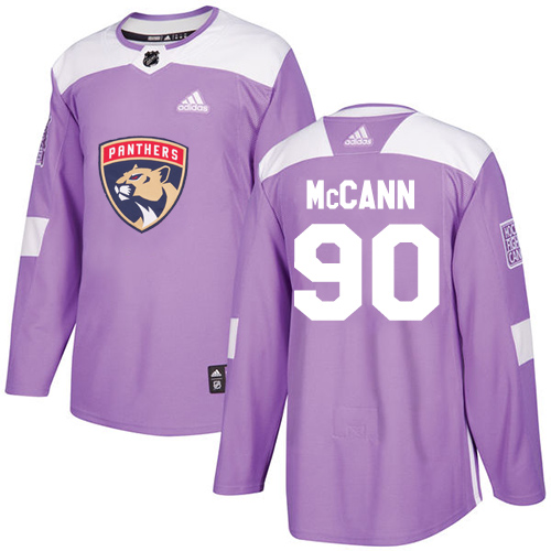 Adidas Panthers #90 Jared McCann Purple Authentic Fights Cancer Stitched NHL Jersey