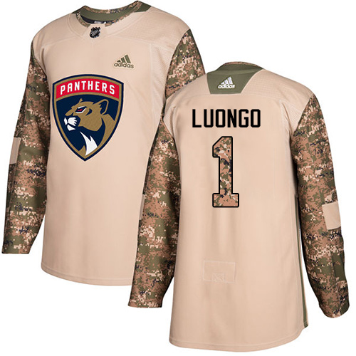 Adidas Panthers #1 Roberto Luongo Camo Authentic Veterans Day Stitched NHL Jersey