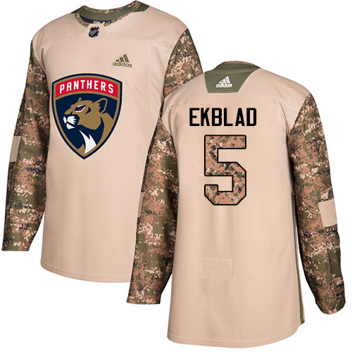 Adidas Panthers #5 Aaron Ekblad Camo Authentic Veterans Day Stitched NHL Jersey