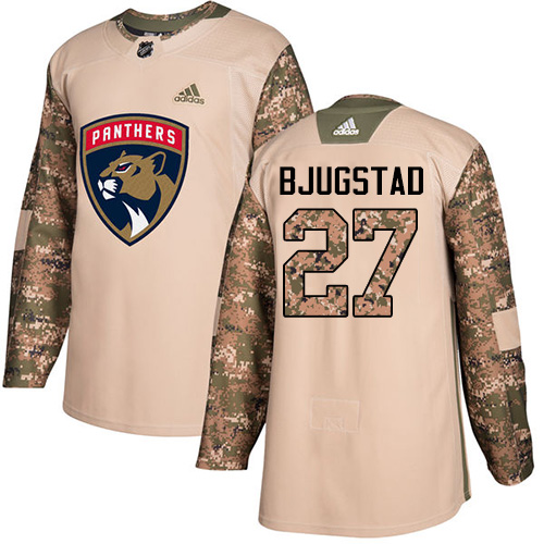 Adidas Panthers #27 Nick Bjugstad Camo Authentic Veterans Day Stitched NHL Jersey