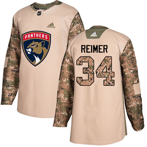 Adidas Panthers #34 James Reimer Camo Authentic Veterans Day Stitched NHL Jersey