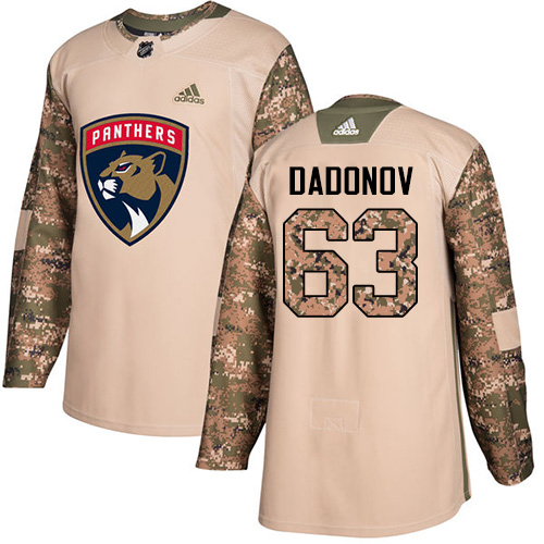 Adidas Panthers #63 Evgenii Dadonov Camo Authentic Veterans Day Stitched NHL Jersey