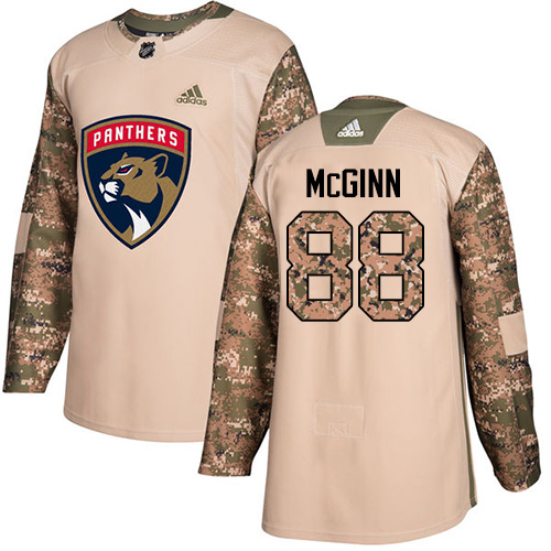 Adidas Panthers #88 Jamie McGinn Camo Authentic Veterans Day Stitched NHL Jersey