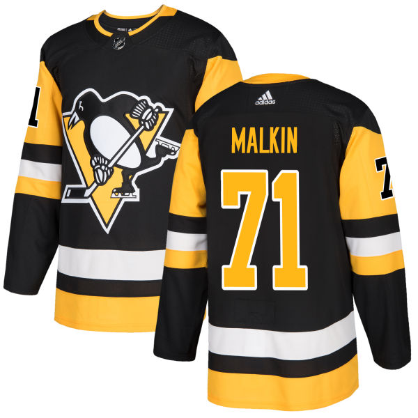 Adidas Penguins #71 Evgeni Malkin Black Home Authentic Stitched NHL Jersey
