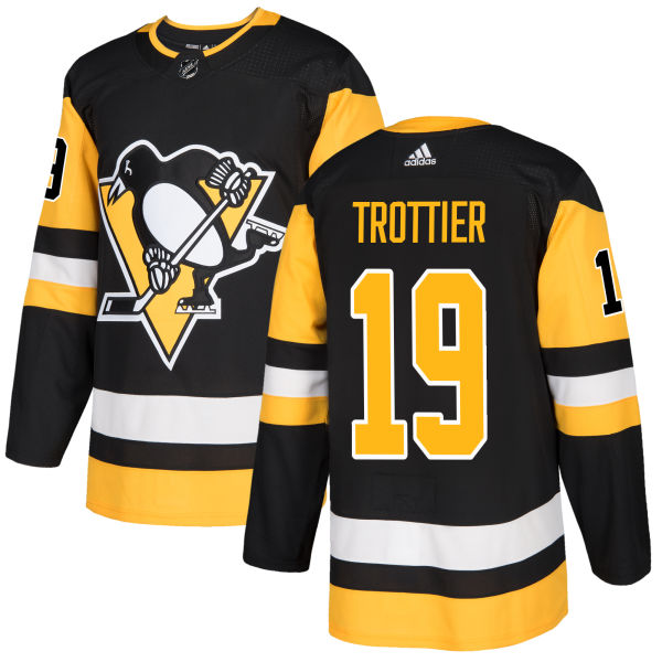 Adidas Penguins #19 Bryan Trottier Black Home Authentic Stitched NHL Jersey