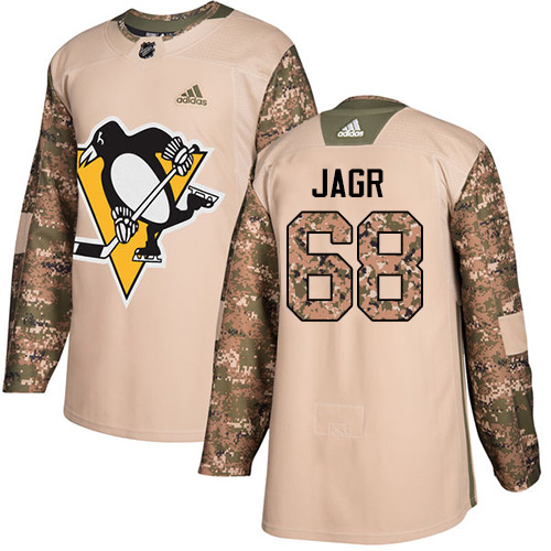 Adidas Penguins #68 Jaromir Jagr Camo Authentic Veterans Day Stitched NHL Jersey