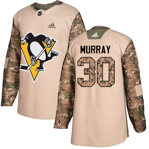 Adidas Penguins #30 Matt Murray Camo Authentic Veterans Day Stitched NHL Jersey