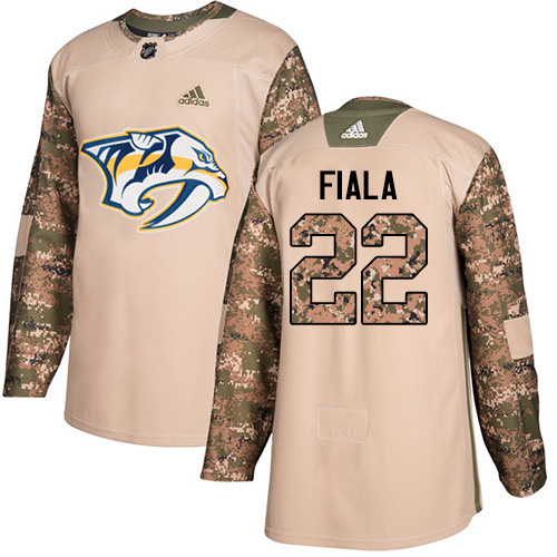 Adidas Predators #22 Kevin Fiala Camo Authentic Veterans Day Stitched NHL Jersey