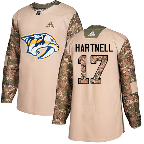 Adidas Predators #17 Scott Hartnell Camo Authentic Veterans Day Stitched NHL Jersey