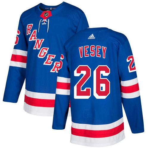 Adidas Rangers #26 Jimmy Vesey Royal Blue Home Authentic Stitched NHL Jersey