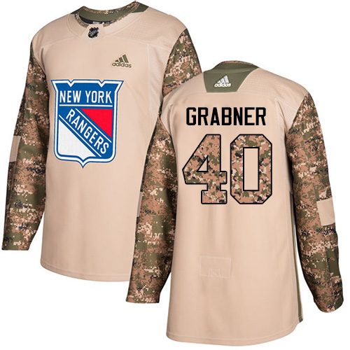 Adidas Rangers #40 Michael Grabner Camo Authentic Veterans Day Stitched NHL Jersey