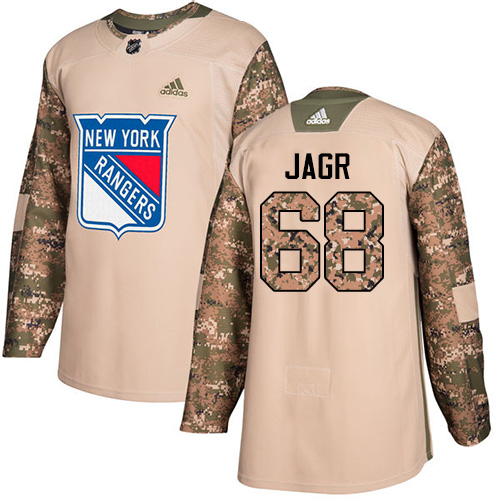 Adidas Rangers #68 Jaromir Jagr Camo Authentic Veterans Day Stitched NHL Jersey