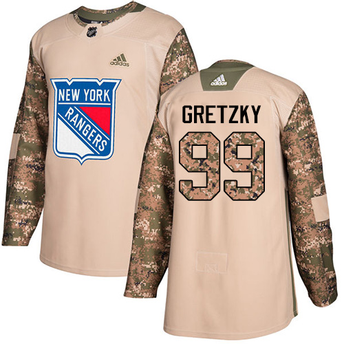 Adidas Rangers #99 Wayne Gretzky Camo Authentic Veterans Day Stitched NHL Jersey