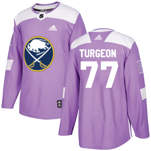 Adidas Sabres #77 Pierre Turgeon Purple Authentic Fights Cancer Stitched NHL Jersey
