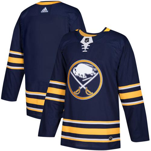 Adidas Sabres Blank Navy Blue Home Authentic Stitched NHL Jersey