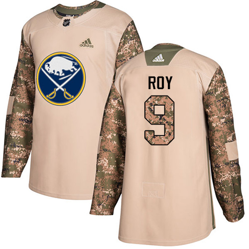 Adidas Sabres #9 Derek Roy Camo Authentic Veterans Day Stitched NHL Jersey