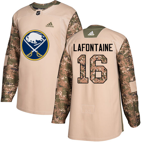 Adidas Sabres #16 Pat Lafontaine Camo Authentic Veterans Day Stitched NHL Jersey