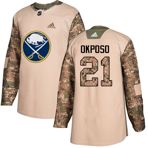 Adidas Sabres #21 Kyle Okposo Camo Authentic Veterans Day Stitched NHL Jersey