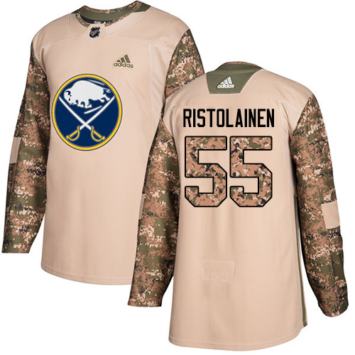 Adidas Sabres #55 Rasmus Ristolainen Camo Authentic Veterans Day Stitched NHL Jersey