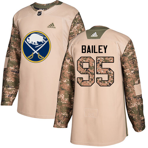 Adidas Sabres #95 Justin Bailey Camo Authentic Veterans Day Stitched NHL Jersey