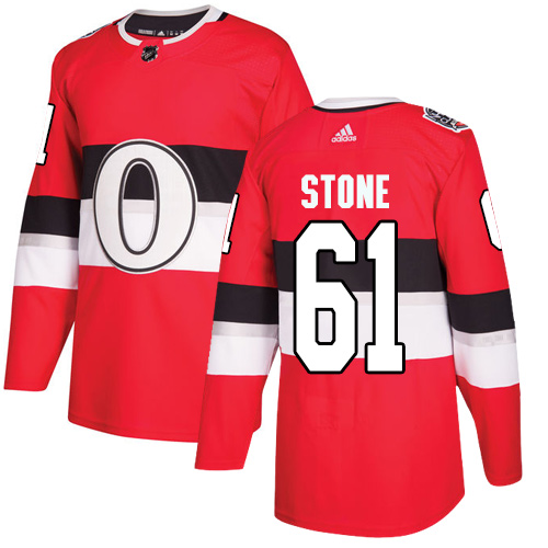 Adidas Senators #61 Mark Stone Red Authentic 100 Classic Stitched NHL Jersey