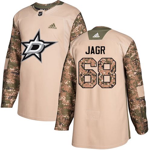 Adidas Stars #68 Jaromir Jagr Camo Authentic Veterans Day Stitched NHL Jersey