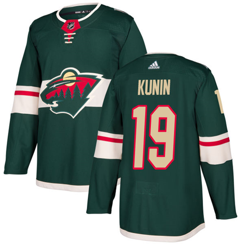 Adidas Wild #19 Luke Kunin Green Home Authentic Stitched NHL Jersey