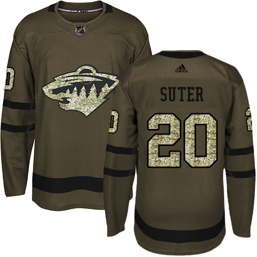 Adidas Wild #20 Ryan Suter Green Salute to Service Stitched NHL Jersey