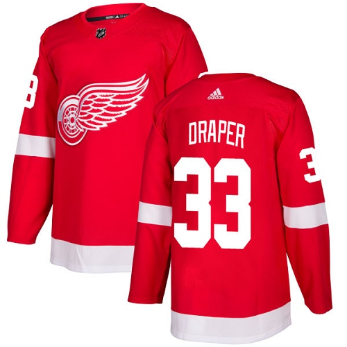Adidas Red Wings #33 Kris Draper Red Home Authentic Stitched NHL Jersey