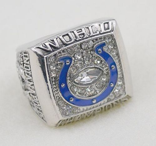 NFL Indianapolis Colts World Champions Silver Ring_3