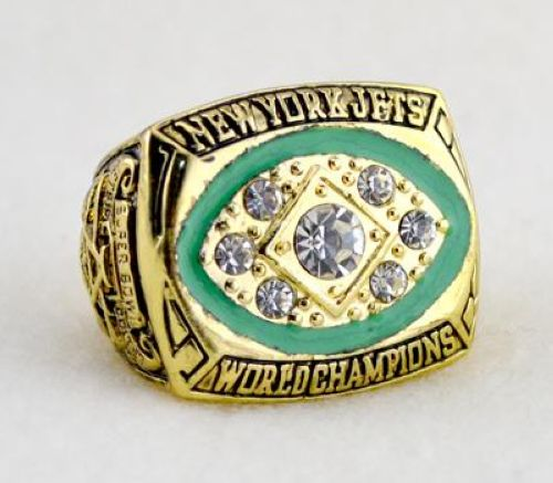 NFL New York Jets World Champions Gold Ring