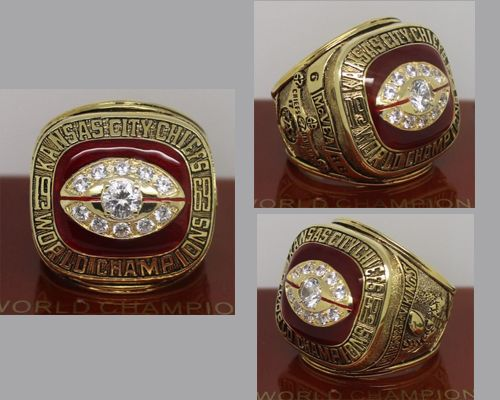 1969 NFL Super Bowl IV Kansas City Chiefs Championship Ring