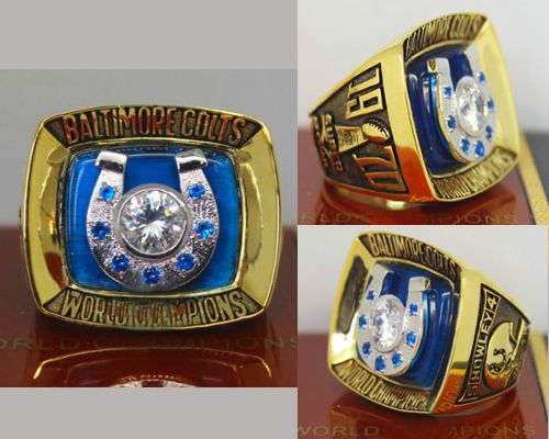 1970 NFL Super Bowl V Baltimore Colts Championship Ring