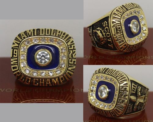 1972 NFL Super Bowl VII Miami Dolphins Championship Ring