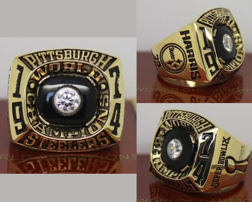 1974 NFL Super Bowl IX Pittsburgh Steelers Championship Ring
