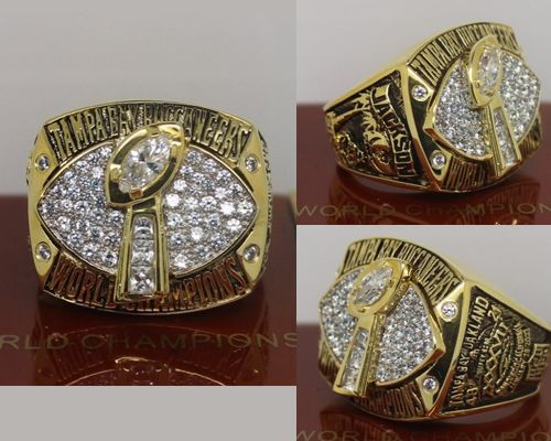 2002 NFL Super Bowl XXXVII Tampa Bay Buccaneers Championship Ring
