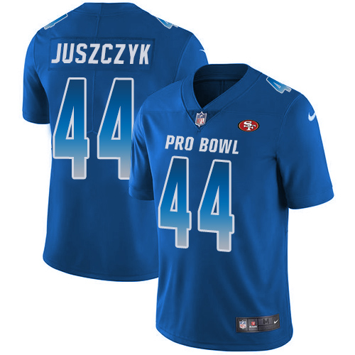 Nike 49ers #44 Kyle Juszczyk Royal Men's Stitched NFL Limited NFC 2018 Pro Bowl Jersey