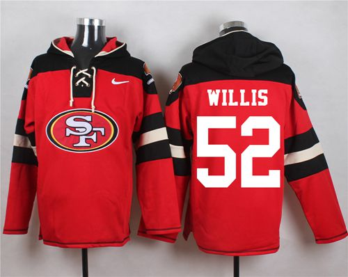 Nike 49ers #52 Patrick Willis Red Player Pullover NFL Hoodie